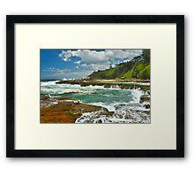 Shoreline Falls Framed Print