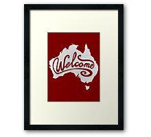 Welcome Australia - White Framed Print