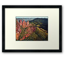 Three Sisters, Blue Mountains, Australia Framed Print