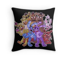 FNAF- The Gang's All Here Throw Pillow