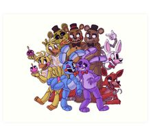 FNAF- The Gang's All Here Art Print