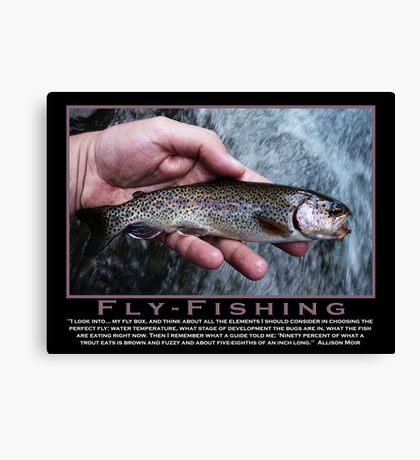 Flyfishing Humor Canvas Print