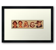 Coen Brothers Characters Framed Print