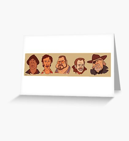 Coen Brothers Characters Greeting Card