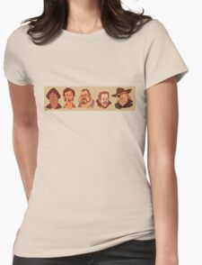 Coen Brothers Characters Womens Fitted T-Shirt