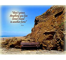 A Seat by the Rock Photographic Print