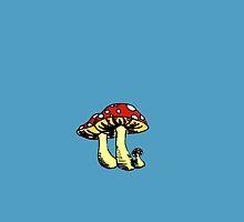 Tiny Mushrooms by artbycheyenne