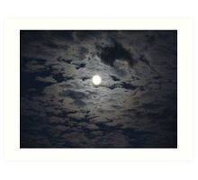 Moon in the Clouds Art Print