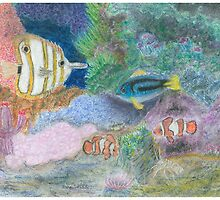 The Corel Reef - Oil Pastels by Gordon Pegler