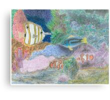 The Corel Reef - Oil Pastels Metal Print