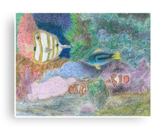 The Corel Reef - Oil Pastels Canvas Print