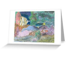 The Corel Reef - Oil Pastels Greeting Card