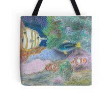 The Corel Reef - Oil Pastels Tote Bag