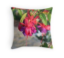 Dangling Fuchsia Throw Pillow