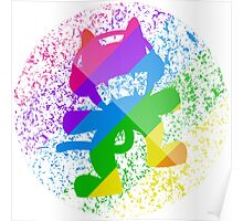 Rainbow MONSTERCAT Poster