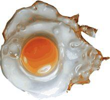 fried egg by Grobie