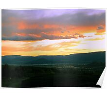 Kelowna Summer Sunset Poster