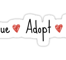 Rescue, Adopt, Love Sticker
