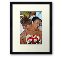 Stealing A Kiss Framed Print