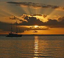 Fraser Island sunset by Nick Hunt