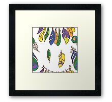 Vector Seamless Pattern of Plumage Framed Print