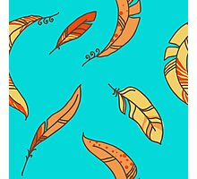 Vector Seamless Pattern of Plumage Photographic Print