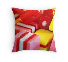 """Licorice Allsorts Cousins"" Throw Pillow"