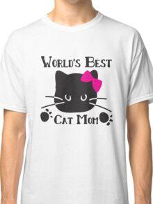 World's best cat mom Classic T-Shirt