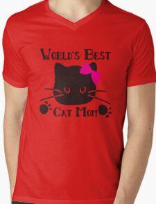 World's best cat mom Mens V-Neck T-Shirt