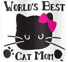 World's best cat mom Poster