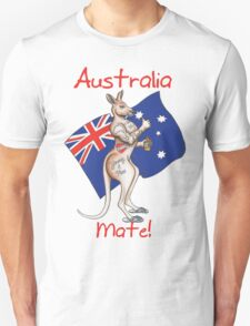 Australia Day Tattoo Kangaroo with Flag Design ! T-Shirt