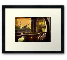 The washbasin . . . Framed Print