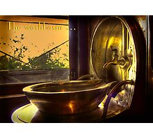 The washbasin . . . Photographic Print
