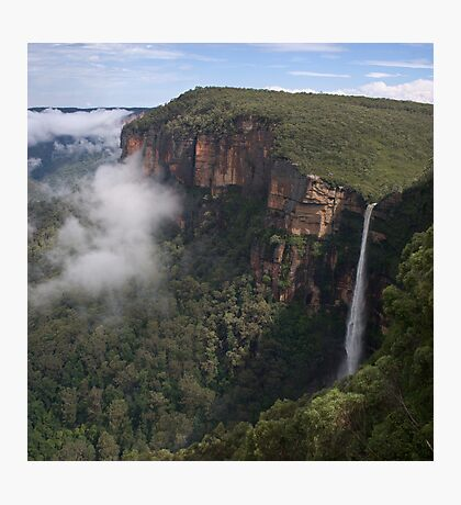 Bridal Veil Falls, Blackheath, Greater Blue Mountains World Heritage Area Photographic Print