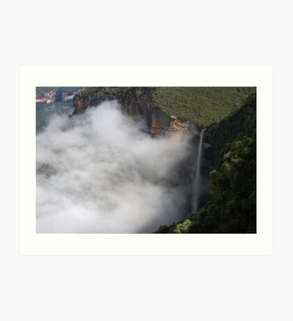 Bridal Veil Falls, Blackheath, Blue Mountains Art Print