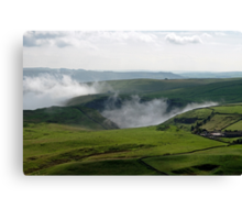 Low Lying Cloud in Winnats Pass Canvas Print