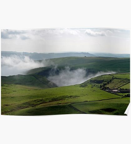 Low Lying Cloud in Winnats Pass Poster