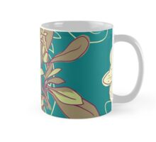 Seamless floral background with peonies Mug