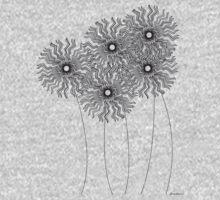 Flowers One Piece - Long Sleeve