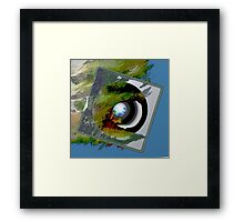 EARTH DAY, early birds, MOSSY Framed Print