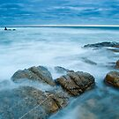 Waves over Rocks by Syman  Kaye