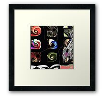 Bright color artwork, abstract, fractals collage Framed Print
