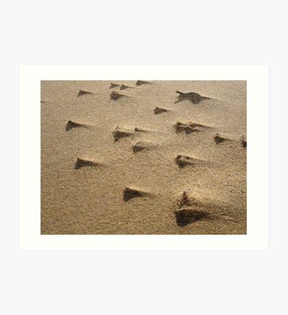 Sand Storm in Macro Art Print