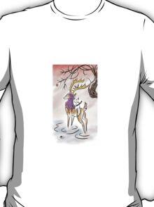 Kitsune warrior on winter's eve T-Shirt