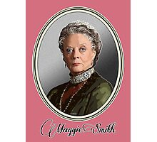 Maggie Smith is Lady Violet, Dowager Countess - Downton Abbey Photographic Print