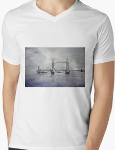 Tower Bridge Mens V-Neck T-Shirt