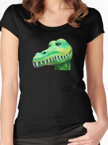 T Shirt Crocodile  Women's Fitted Scoop T-Shirt