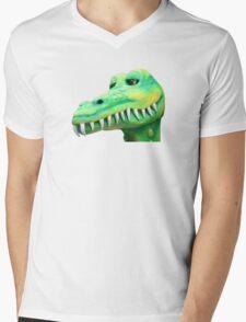 T Shirt Crocodile  Mens V-Neck T-Shirt