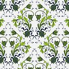 Elegance Seamless pattern with flowers ornament by OlgaBerlet