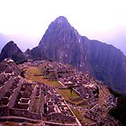 Morning over Machu Picchu by Elaine Stevenson